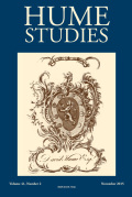 <i>Reflecting Subjects: Passion, Sympathy, and Society in Hume's Philosophy</i> by Jacqueline Taylor (review)