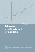 Education and Treatment of Children, Volume 40, Number 2, May 2017