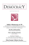 India's Democracy at 70: The Impact of Instant Universal Suffrage