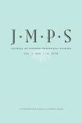 The Journal of Modern Periodical Studies cover