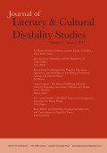 Body Politics and Disability: Negotiating Subjectivity and Embodiment in Disability Poetry