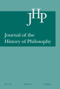 <i>Julius Caesar Scaliger, Renaissance Reformer of Aristotelianism: A Study of His Exotericae Exercitationes</i> by Kuni Sakamoto (review)
