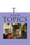 Theatrical Reception and the Formation of Twenty-first-Century Perception: A Case Study for the iGeneration