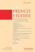 <i>Reading Communities: A Dialogical Approach to French and Francophone Literature = Communautés de lecture: pour une approche dialogique des œuvres classiques et contemporaines</i> ed. by Oana Panaïté (review)