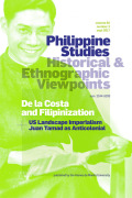 Philippine Studies: Historical and Ethnographic Viewpoints cover