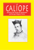 Calíope: Journal of the Society for Renaissance and Baroque Hispanic Poetry cover