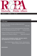 Rhetoric & Public Affairs cover