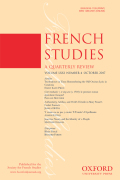 <i>A Class Apart: The Military Man in French and British Fiction, 1740–1789</i> by Karen Lacey (review)