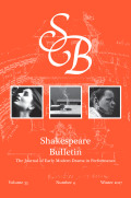 <i>Shakespeare in the Theatre: The American Shakespeare Center</i> by Paul Menzer (review)