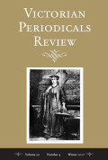 <i>Journalism and the Periodical Press in Nineteenth-Century Britain</i> ed. by Joanne Shattock (review)