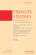 "<i>Critique et médium: <small class=""caps"">xx</small></i><i>e</i><i>–<small class=""caps"">xxi</small></i><i>e siècles</i> ed. by Ivanne Rialland (review)"