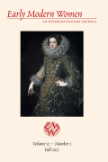 <i>Beyond the Cloister: Catholic Englishwomen and Early Modern Literary Culture</i> by Jenna Lay (review)