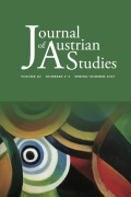 Journal of Austrian Studies cover