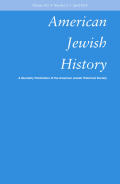 <i>The Politics of Nonassimilation: The American Jewish Left in the Twentieth Century</i> by David Verbeeten (review)