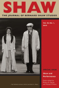 SHAW: The Journal of Bernard Shaw Studies cover