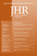 Journal of Human Resources cover
