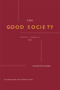 The Good Society cover