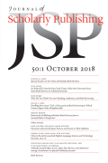 Journal of Scholarly Publishing cover