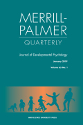 Merrill-Palmer Quarterly cover