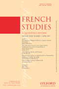 French Studies: A Quarterly Review cover