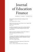 Journal of Education Finance cover