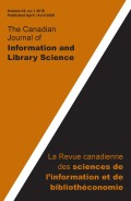 Canadian Journal of Information and Library Science cover