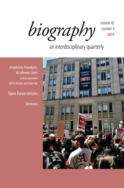 Biography: Volume 42, Number 4, 2019