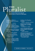 The Pluralist cover
