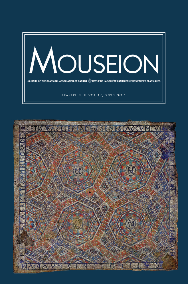 Mouseion: Journal of the Classical Association of Canada: Volume 17, Number 1, 2020
