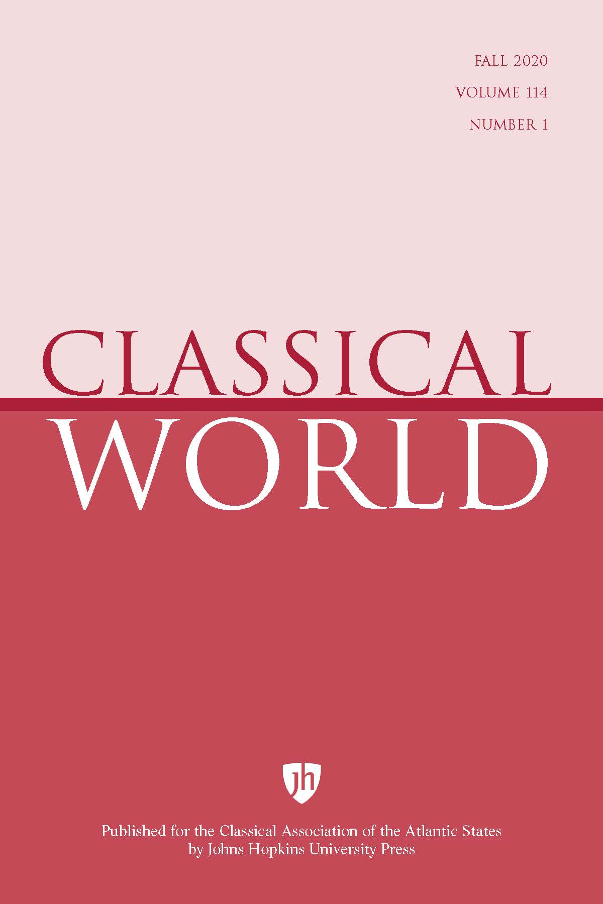 Classical World: Number 1, Fall 2020