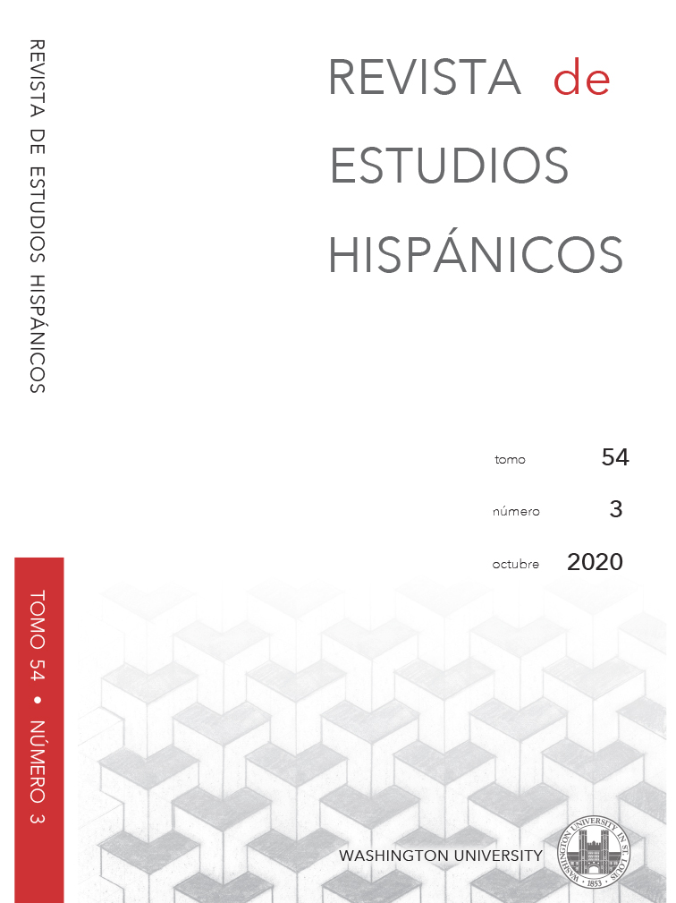 Revista de Estudios Hispánicos: Tomo 54, Número 3, Octubre 2020