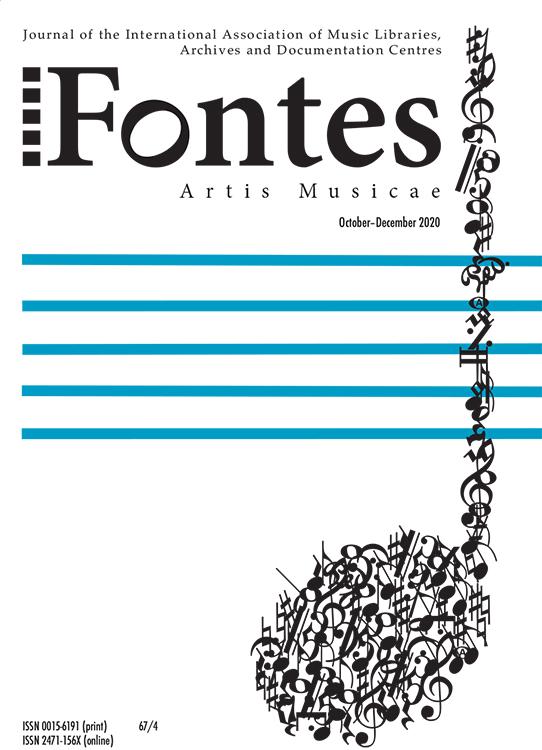 Fontes Artis Musicae: Volume 67, Number 4, October-December 2020