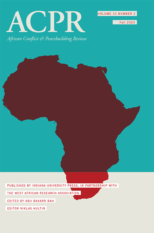African Conflict & Peacebuilding Review: Volume 10, Number 2, Fall 2020