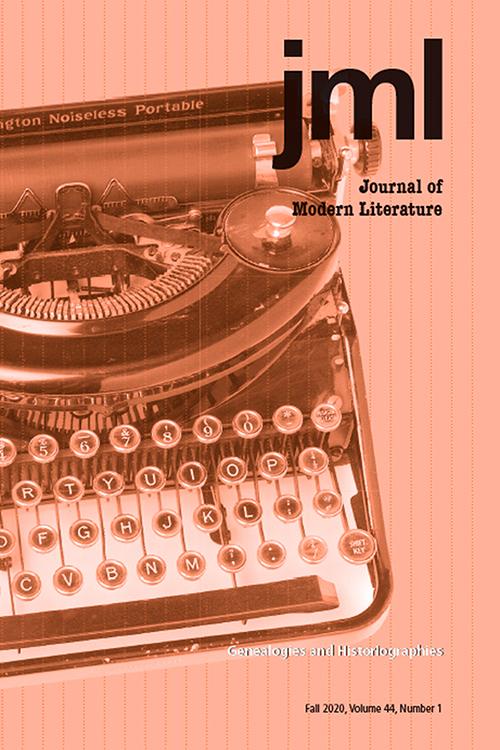 Journal of Modern Literature: Volume 44, Number 1, Fall 2020