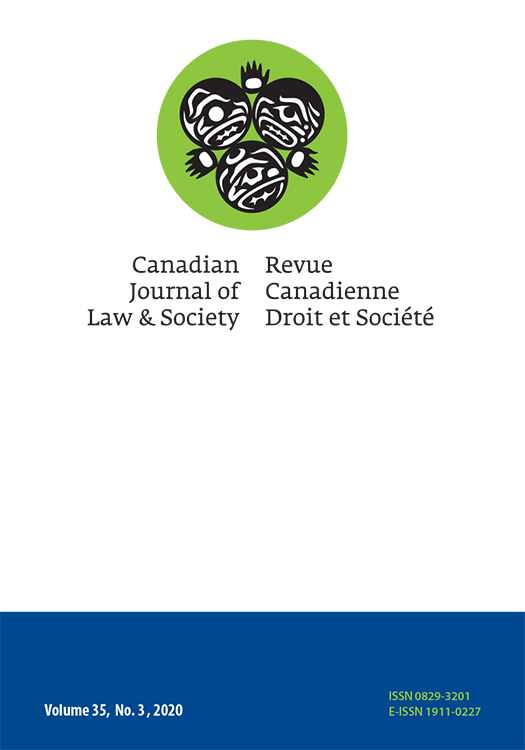 Canadian Journal of Law and Society: Volume 35, Number 3, 2020