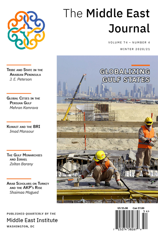 The Middle East Journal: Volume 74, Number 4, Winter 2020