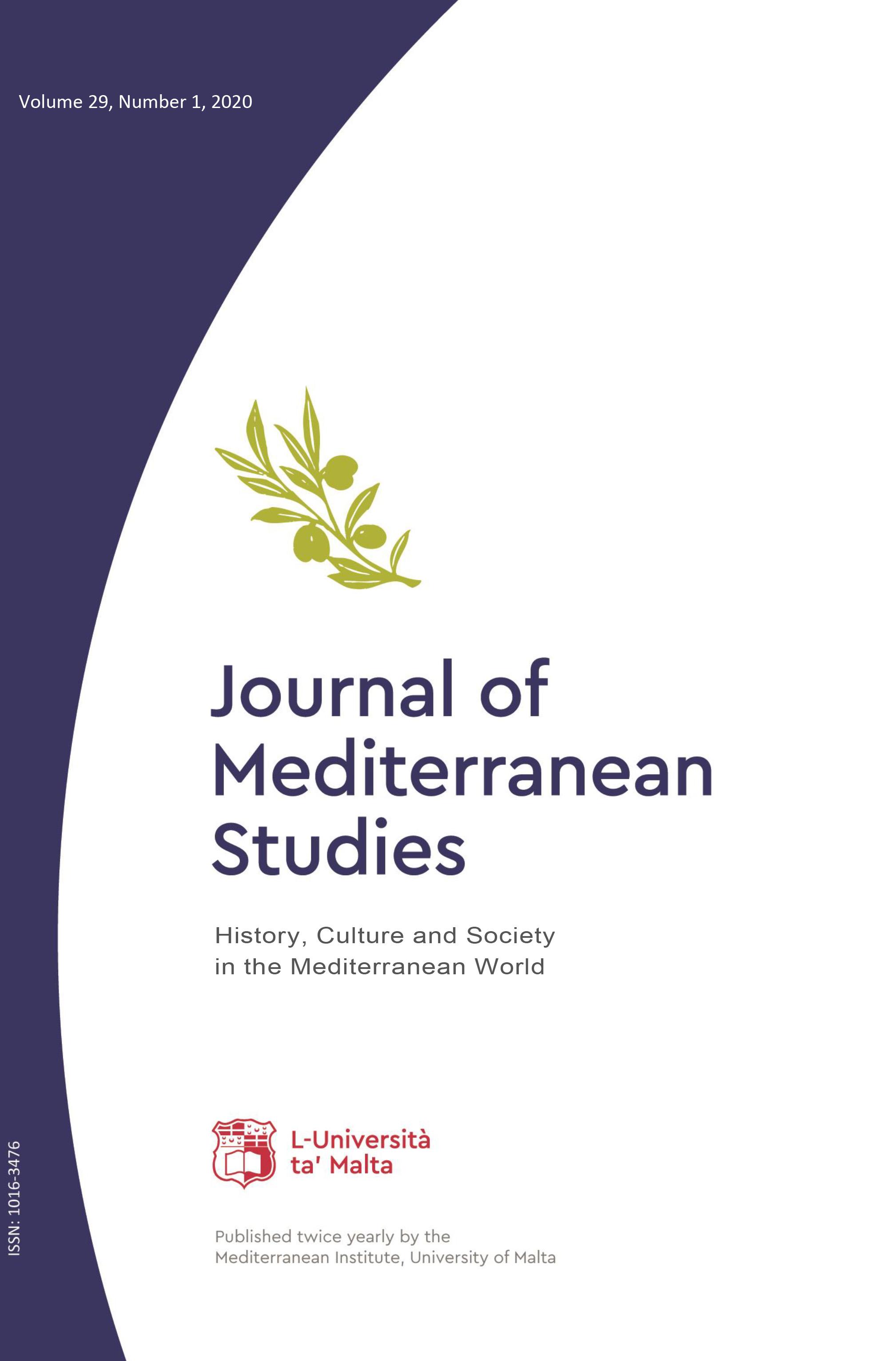 Journal of Mediterranean Studies: Volume 29, Number 1, 2020