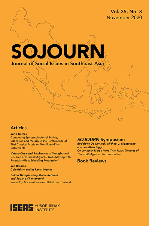 Sojourn: Journal of Social Issues in Southeast Asia: Volume 35, Number 3, November 2020