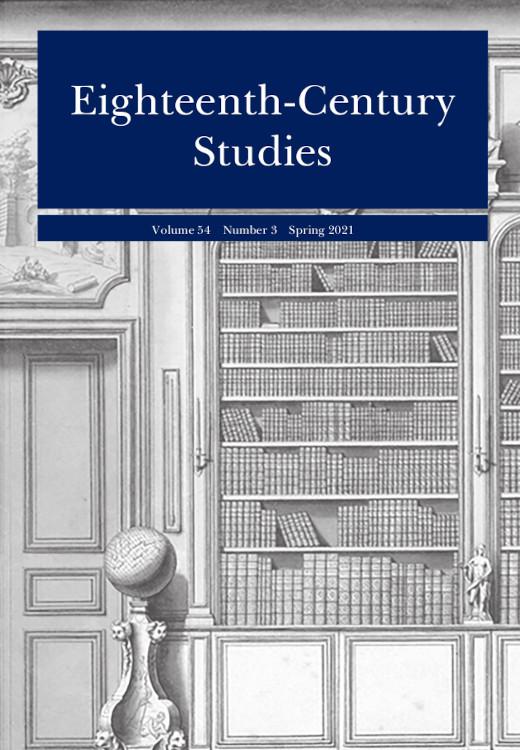Eighteenth-Century Studies: Volume 54, Number 3, Spring 2021