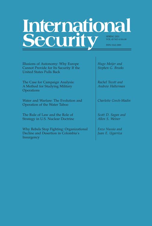 International Security: Volume 45, Number 4, Spring 2021