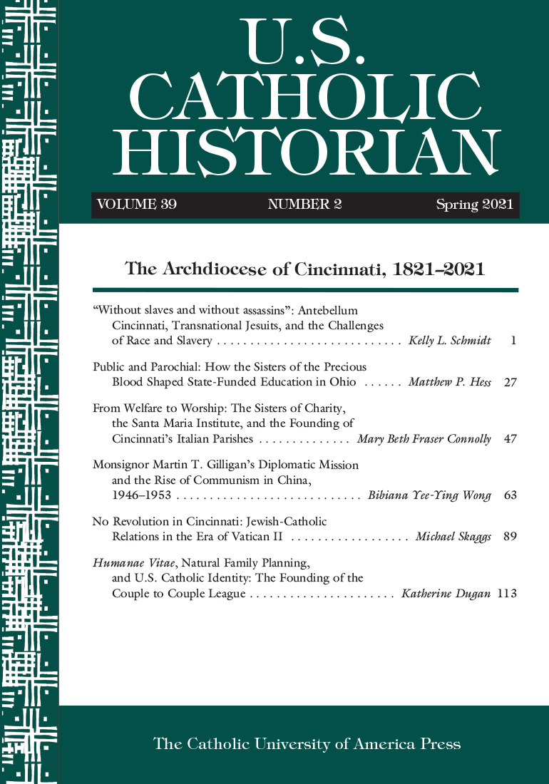 U.S. Catholic Historian: Volume 39, Number 2, Spring 2021