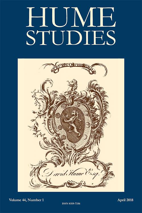Hume Studies: Volume 44, Number 1, April 2018