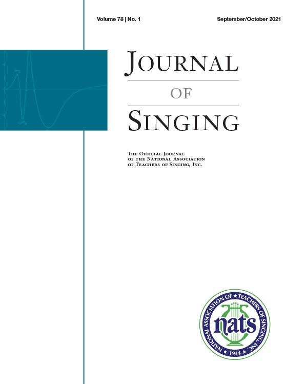 Journal of Singing: Volume 78, Number 1, September/October 2021