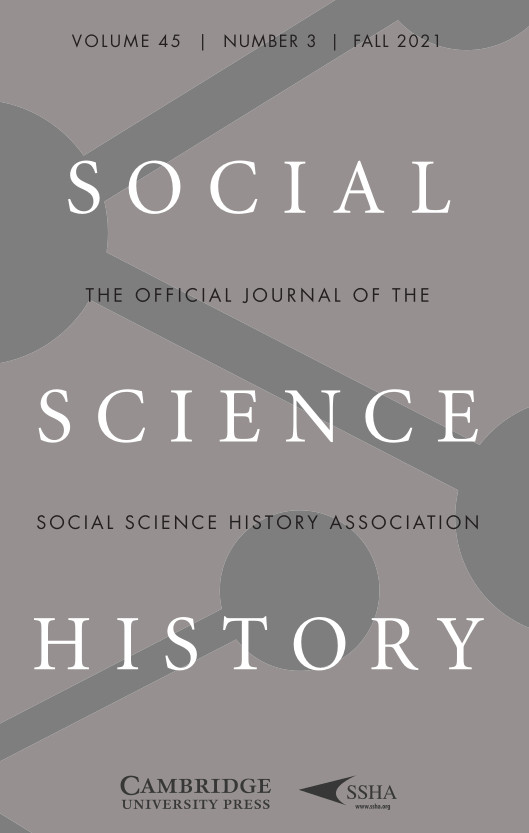 Social Science History: Volume 45, Number 3, Fall 2021