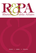Rhetoric & Public Affairs