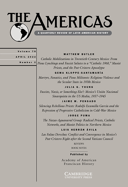 Journal cover - black title and table of contents on salmon pink cover
