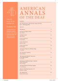 American Annals of the Deaf cover