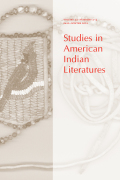 Studies in American Indian Literatures cover