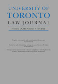 University of Toronto Law Journal