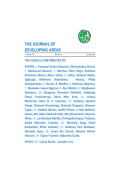 The Journal of Developing Areas